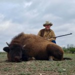 American buffalo bison hunt